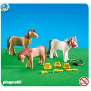 Playmobil 7435 3 Ponies with Accessories