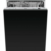Smeg DI613PMAX Fully Integrated Standard Dishwasher - Stainless Steel Control Panel with Fixed Door Fixing Kit - A+++ Rated