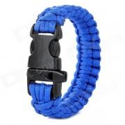 cuerda de mano paracaidas de liberacion rapida de emergencia al aire libre / brazalete de cuerda con silbato - azul