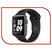Умные часы APPLE Watch Series 3 Nike+ 38mm Aluminium Space Gray Sports Strap Anthracite-Black MQKY2RU/A