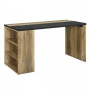 [en.casa]® Dizajnový písací stôl - MDF - imitácia dreva - 140 x 68 x 77 cm