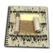 3dRose db_100404_1 Sacred Holy Torah on Hebrew Letters-Drawing Book, 8 by 8-Inch