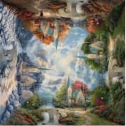 Puzzle Schmidt - 1000 de piese - Thomas Kinkade The mounta