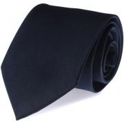 Krawatte Seide Marineblau Uni F35 - Blau
