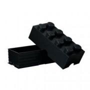 Cutie depozitare LEGO 2x4 negru 40041733