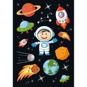 Merkloos 3x Astronaut stickervellen met 10 stickers