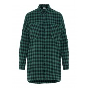 NOISY MAY Geruite Overhemd Dames Zwart / Female / MallardGreen / S