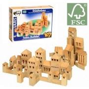 Costruzioni in legno di betulla naturale 107 pezzi Varis Toys