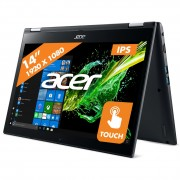 Acer laptop Spin 3 SP314-51-38U5 grijs