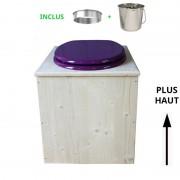 Toilette sèche - La Violet prune inox - rehaussée