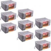Pretty Krafts Underbed Storage Bag, Storage Organizer, Blanket Cover with Side Handles F1295_PurpleP9(Purple)