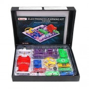 Electronics Learning Kit for Kids, Best Electric Building Blocks to Learn About Electricity and Circuits, W335, by Keess Toys