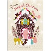 adventskalender A4+ met envelop - snoephuisje - have a magical christmas