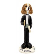 Cavalier King Charles Spaniel BrownWhite Conductor Doogie Collectable Figurine