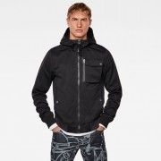 G-star RAW Hommes Veste Utility Hooded Softshell Noir