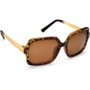 DE RENE Over-sized Sunglasses(Brown)