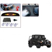 Auto Addict Car Silver Reverse Parking Sensor With LED Display For Mahindra Thar