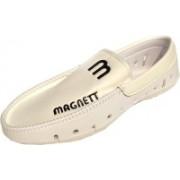 VShine Men's Loafer slip ons casual shoes for men White Loafers For Men(White)
