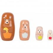 Speelgoed houten beren matroesjka set van 4