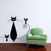 Familie de pisicute *Promotie* 127x110 Negru