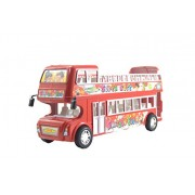 Lukas City Bus for Boys, Push and Go Toy for Kids, Toy Bus, Friction Toy, Bus Toy, Double Decker Bus for Kids, Red