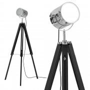 [lux.pro]® Elegantní stojací lampa - Tripod A 1 x E 27 - 60W - chromová / černá