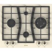 Plita pe gaz incorporabila Gorenje GW65CLI, latime 60 cm, 4 arzatoare, wok, aprindere electrica integrata, sistem de siguranta a flacarii, gratare fonta, crem rustic