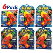 Bubble Gun by 2GoodShop | Bubble Shooter Kids Outdoor Toys Easy Use and Lots of Bubbles Pack of 6 | Item #1553