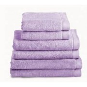 Neiper Juego de toallas algodón peinado 580 gr./m2 color violeta (80682)