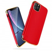 Electroplated 6000mAh Backup Battery Charger Case for Apple iPhone 11 Pro Max 6.5 inch - Red