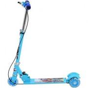 Sayalitoys Toys 3 Wheel Folding Scooter For Kids - Led Lights On Wheels Height Adjustable Bell Brake(Blue)