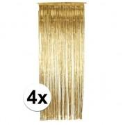 Geen Gouden gordijntjes 244 x 91 cm 4 stuks