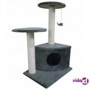 vidaXL Penjalica/ grebalica za mačke, plišana, siva 70cm