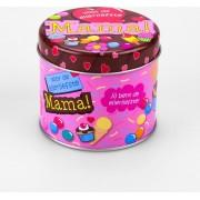 Verjaardag - Snoepblikje - Jij bent de allerliefste Mama! - Gevuld met een verpakte toffeemix - In cadeauverpakking met gekleurd lint