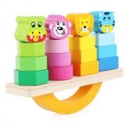 Joc lemn de echilibru, balansoar sortare forme si culori.