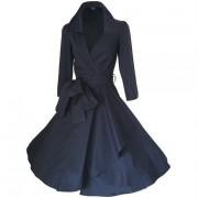 Manteau Wintco Retro Vintage 50' Style Audrey Hepburn Coton M Noir