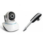 Zemini Wifi CCTV Camera and HM 1000 Bluetooth Headset for LG OPTIMUS G (Wifi CCTV Camera with night vision  HM 1000 Bluetooth Headset With Mic )
