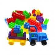Set de constructie tip Lego pentru copii, multicolor, 520 elemente
