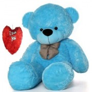 stuffed toy 5 feet soft and cute teddy bear - Blue