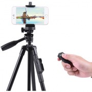 YUNTENG 43-125cm Light Weight Aluminum Tripod With Bluetooth Remote for iPhone + Android 4.3 +Digital Cameras.