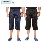Swaggy Solid Mens Capri Combo of 2