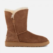 UGG Women's Classic Cuff Short Sheepskin Boots - Chestnut - UK 3 - Tan