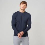 Myprotein Luxe Classic Long Sleeve Crew - S - Navy