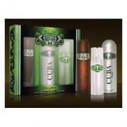Cuba Green - zestaw, woda toaletowa, dezodorant, woda po goleniu