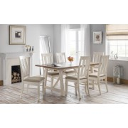 Pembroke Oak Top Dining Table Set - Table + 6 Chairs