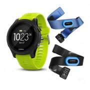 Garmin Forerunner 935 GPS Fitness Watch - Force Yellow Tri-Bundle
