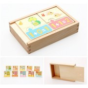 Joyeee Creative Self Correcting Letters And Numbers Puzzle Bundle / Maths Cognitive And Memory Matching Board Game Early Educational Toy For Child 3 Year + Perfect Christmas Gift For Your Kids
