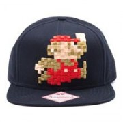 Sapca Nintendo Pixel Mario Snapback Cap black