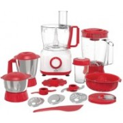 Maxstar FP01 Master Chef+ 800 W Food Processor(Red, White)