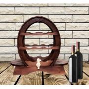Suport vinuri din lemn pentru 7 sticle